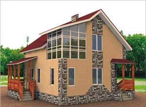 И строит малоэтажные каркасные дома